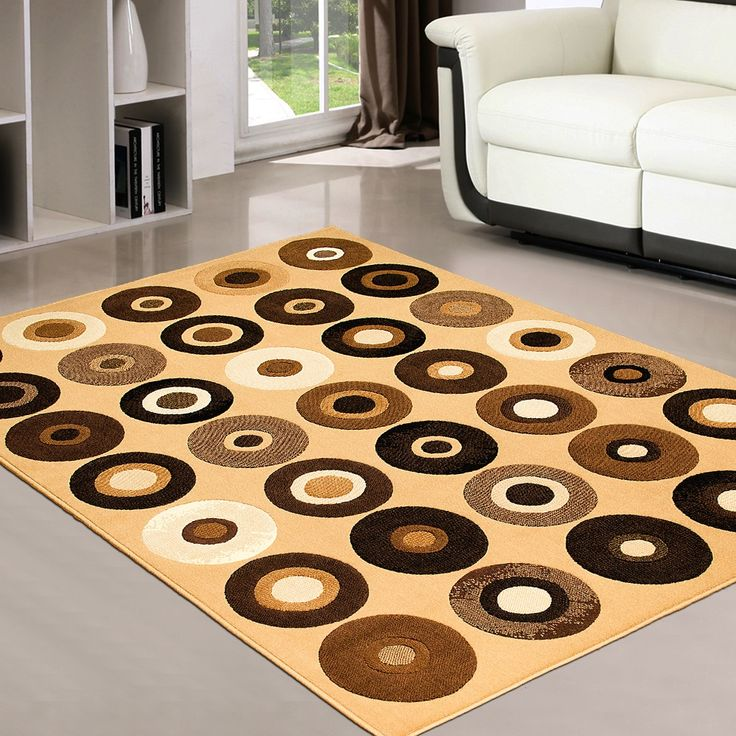 """AllStar Rugs Berber Modern Geometric Circles and Spheres Area Rug. Size: 7'10"""" x 10'2"""""""