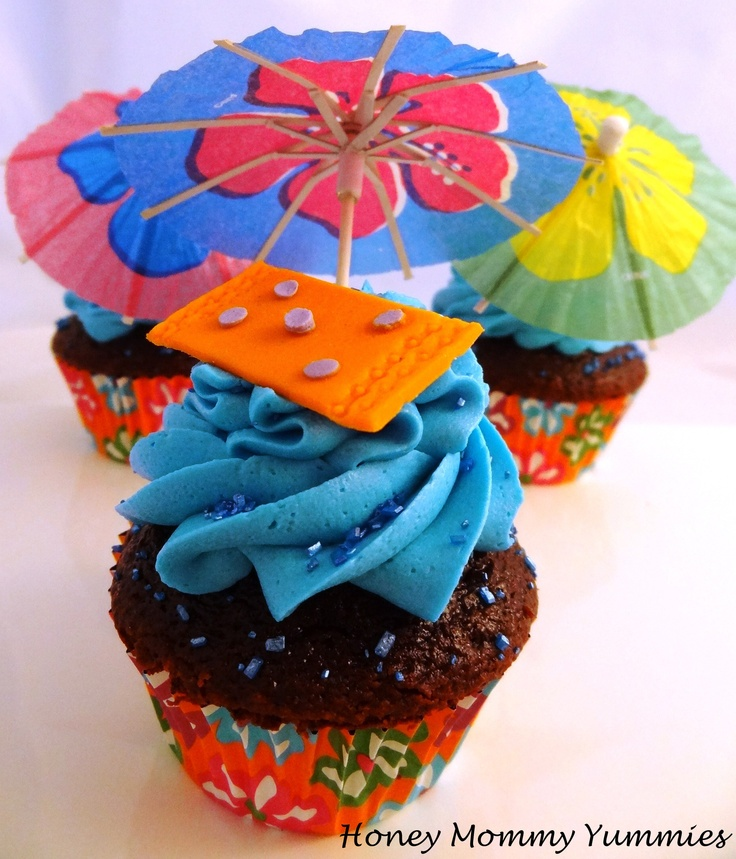 16 Best Images About Party- Pool Party Cupcakes On