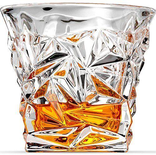 Ashcroft Coupe Diamant Lunettes de verres à whisky ou Scotch–Lot de 2.: machine-crafted verres à whisky en verre diamant objectif Superbe…