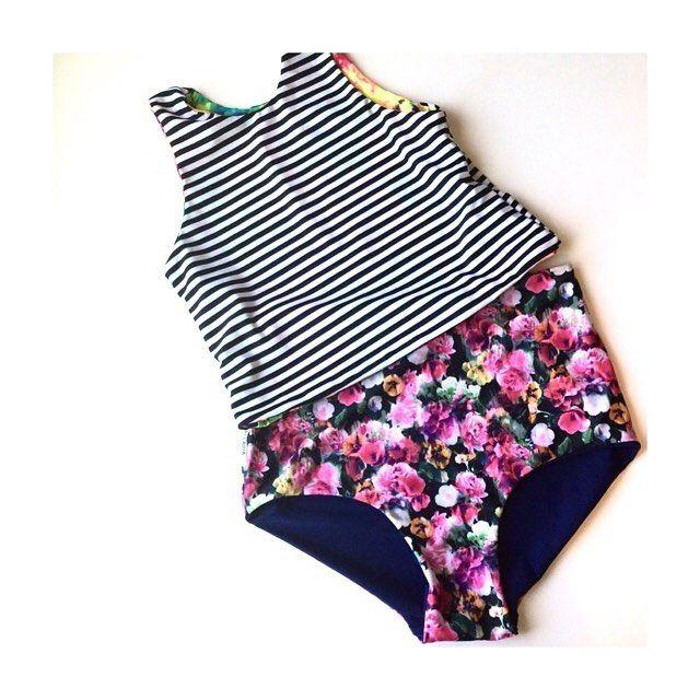 high waisted swimsuit, modest swim suit, tankini, summer, cute