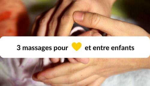 3 jeux de massage pour les enfants