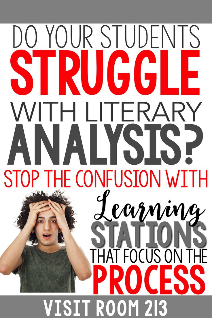Teaching literary analysis? Are your lessons and activities not getting results? Try learning stations from Room 213