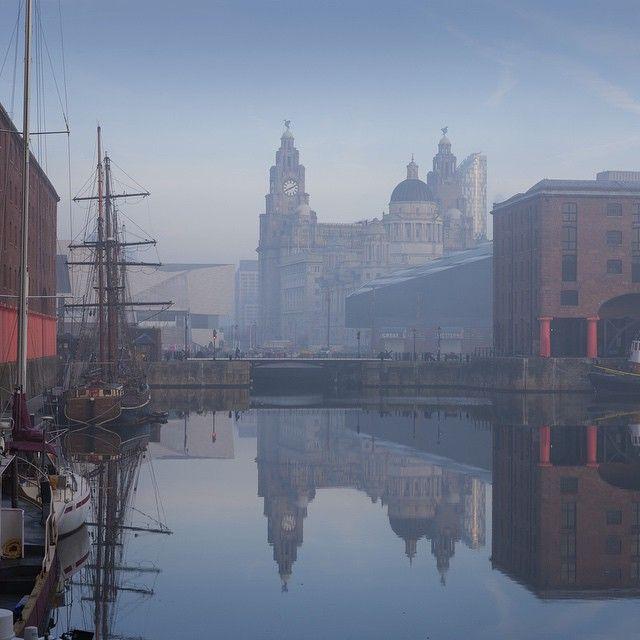 Atmospheric photo of Liverpool. England