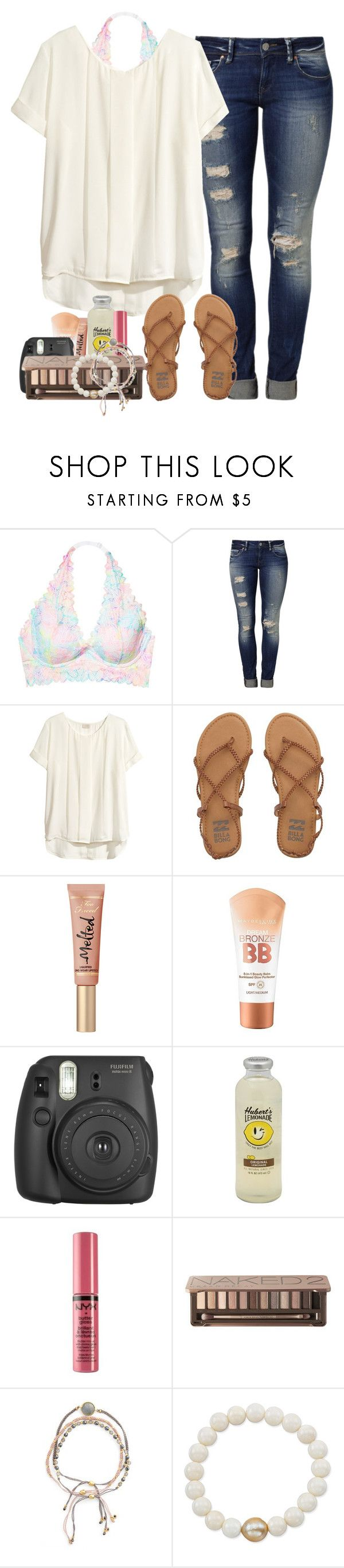 """Only fools rush in"" by labures on Polyvore featuring Victoria's Secret, Mavi, H&M, Billabong, Maybelline, Fujifilm, NYX, Urban Decay, Astley Clarke and Anne Sisteron"