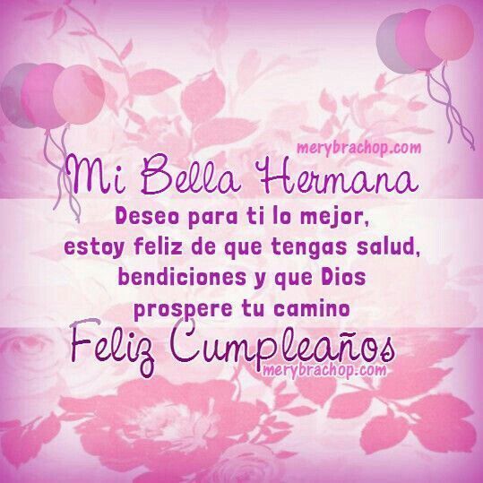 25+ best ideas about Cumpleaños hermana on Pinterest Mensajes cumpleaños hermana, Tarje