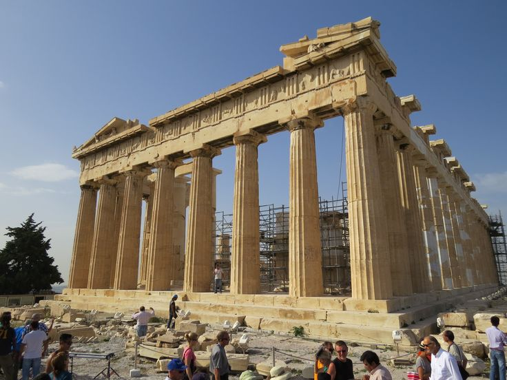 Absolutely amazing how the Acropolis is again standing with the help of archaeologists
