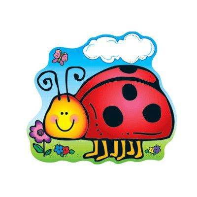 Carson Dellosa Publications 2 Sided Dec Ladybug Bulletin Board Cut Out (Set of 3)