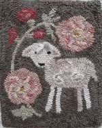 NEW!  Hollyhock by Marijo Taylor - Pattern Only or Complete Rug Hooking Kit