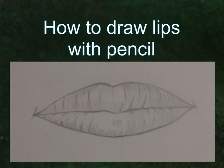 How to draw lips with pencil step by step for beginners