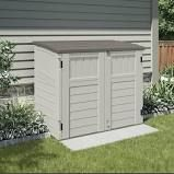 Utility 4 ft. 4 in. W x 2 ft. 8 in. D Plastic Horizontal Garbage Shed Suncast
