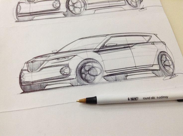 Alfa Romeo SUV Concept Sketch by Jun Kim