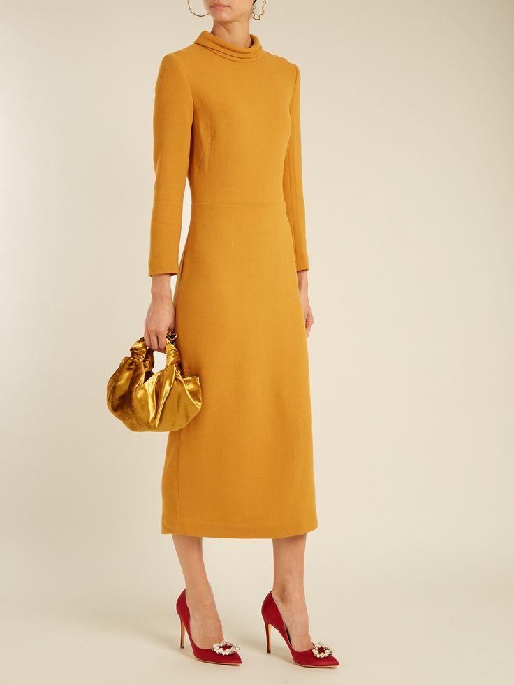 Fold-down collar wool-crepe dress | Carl Kapp | MATCHESFASHION.COM AU