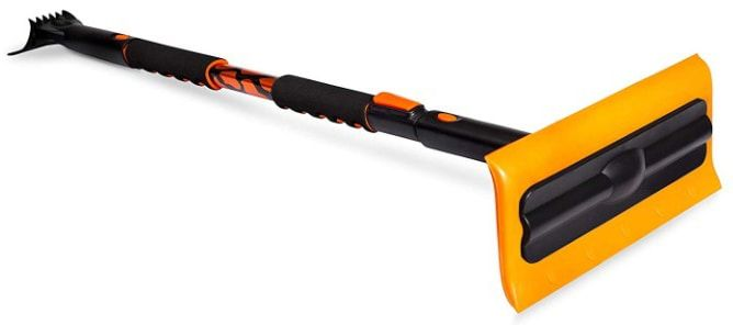 Birdrock Home Snow Moover 55 Extendable Foam Snow Brush And Ice Scraper With Soft Grip Ice Scraper Home Snow Brush
