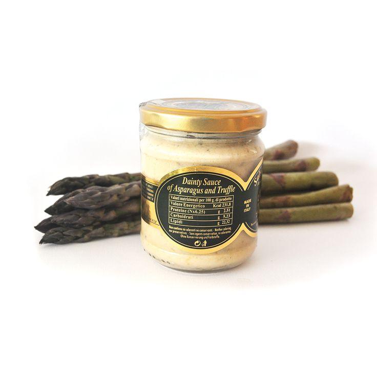 Asparagus sauce with truffle.