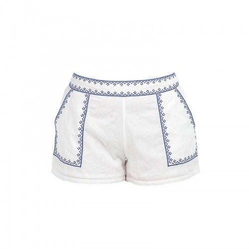WHITE/BLUE SHORTS MEDIUM (100% COTTON)