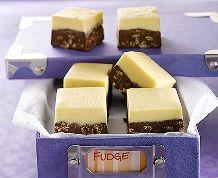 Vanilla Mocha Fudge #ricekrispies #treats #fudge #chocolate #mocha #giftideas