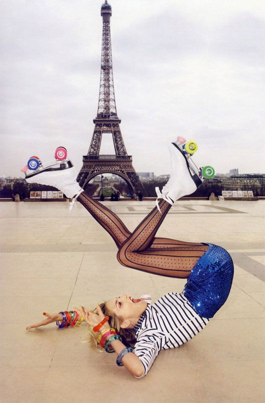 Only Terry Richardson can get away with this in front of the Eiffel Tower!