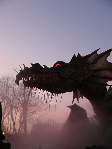A dragon at efteling theme park