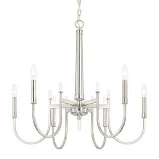 Austin Allen & Company Aiden Collection 6-light Brushed Nickel Chandelier | Overstock.com Shopping - The Best Deals on Chandeliers & Pendants