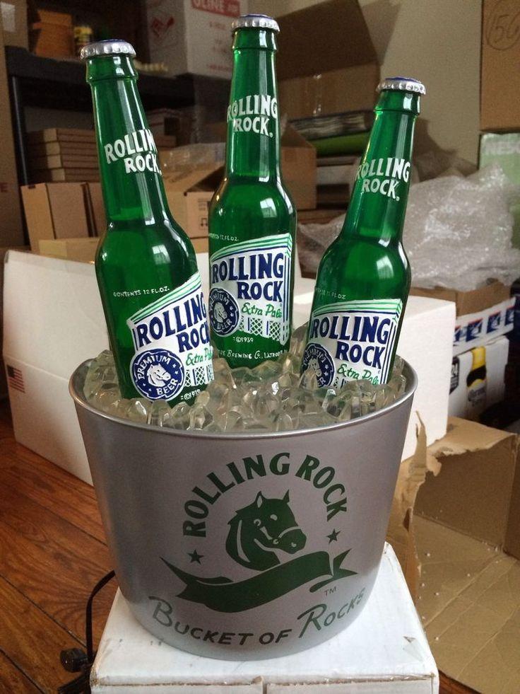 Rolling Rock Beer Bubbler Sign Bottle Bucket Glorifier 2003 New W Box Latrobe PA