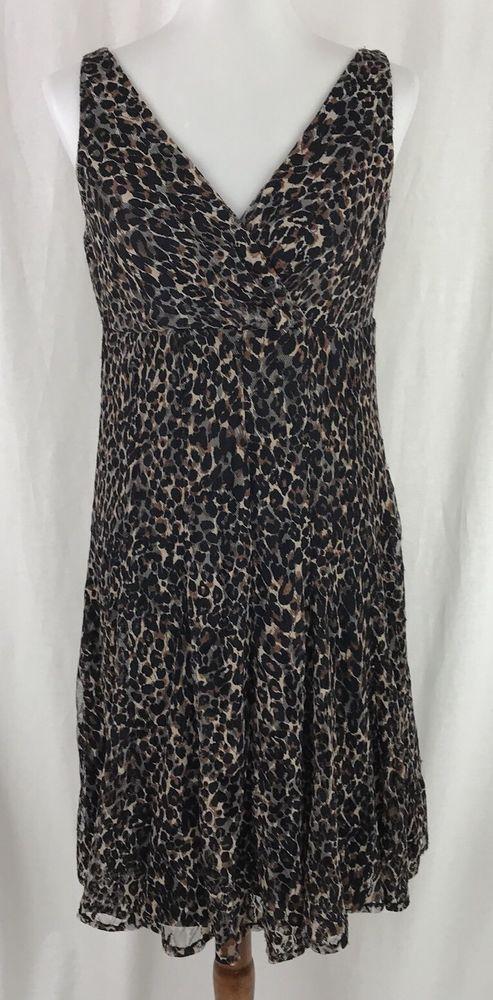 Glamour Brand Womens Sz 10 Dress Sleeveless Empire Waist Animal Cheetah Print Dresses Pinterest Fashion And Outfits