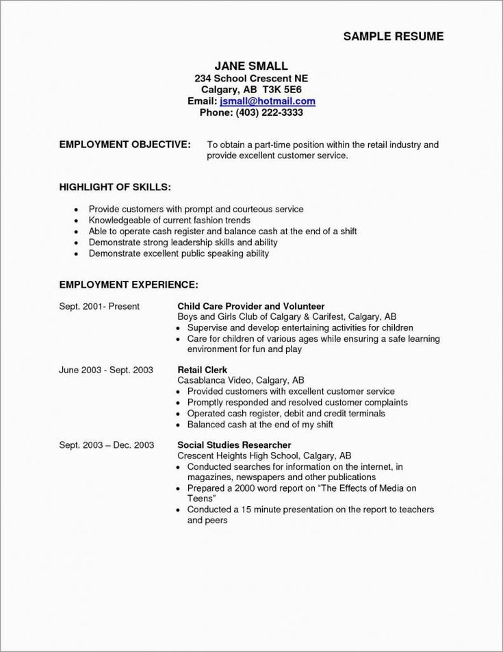 Csuf career center resume fresh resume template part time