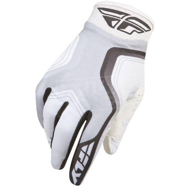 2015 Fly Racing Pro Lite Race Gloves - White Black