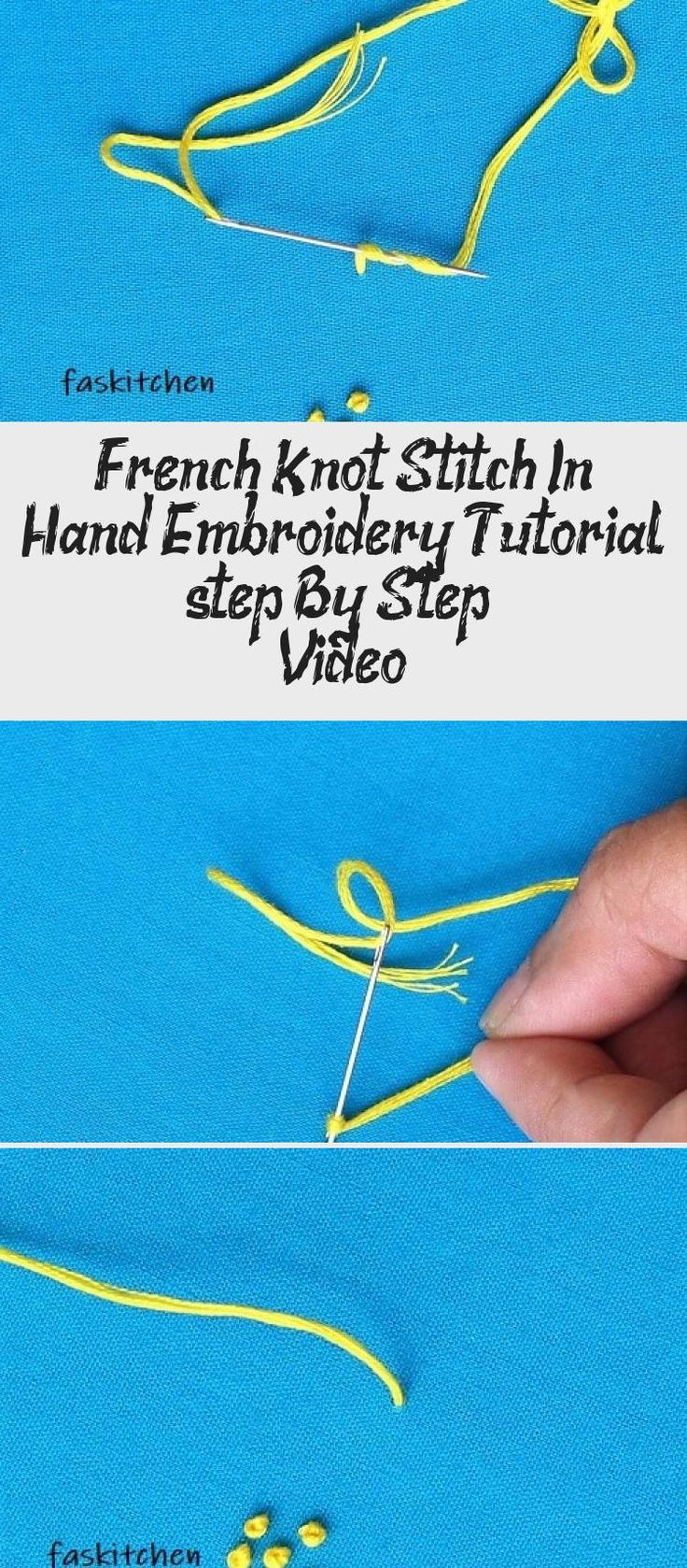 French knot stitch in hand embroidery tutorial step by