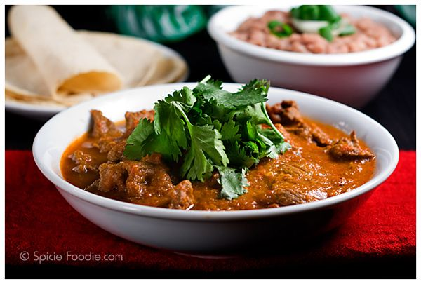 Bistec en Salsa Roja (Steak in Red Salsa) or The Nameless Dish | Spicy Mexican Steak in Chile Sauce