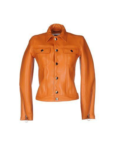 Mm6 By Maison Margiela Кожаная Куртка Для Женщин на YOOX. Коллекция Mm6 By Maison Margiela онлайн: Кожаные Куртки. YOOX: эксклюзивные изделия от итальянских и международн...