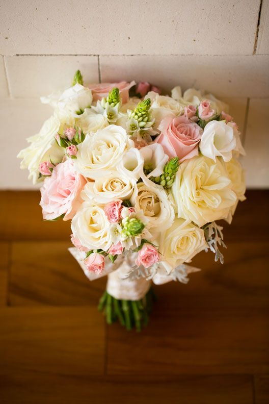 White and Blush Pink Bouquet for Bride