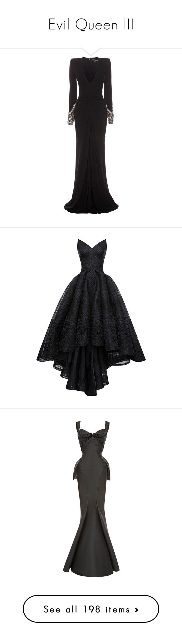 """""""Evil Queen III"""" by cronusstar ❤ liked on Polyvore featuring dresses, gowns…"""