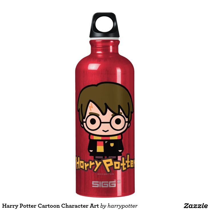 Harry Potter Cartoon Character Art. Regalos, Gifts. #bottle #botella