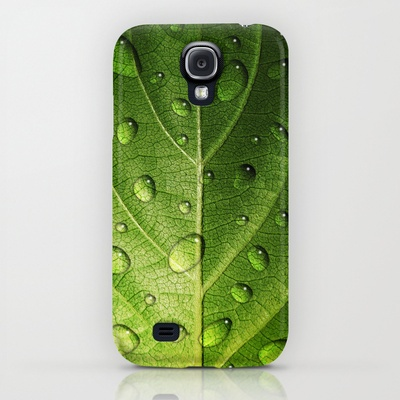 Think Green - droplets on leaf - #Samsung #Galaxy #S4 #cases $35.00 #nature #green #leaf
