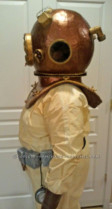 Awesome Homemade Antique Deep Sea Diver Halloween Costume ...