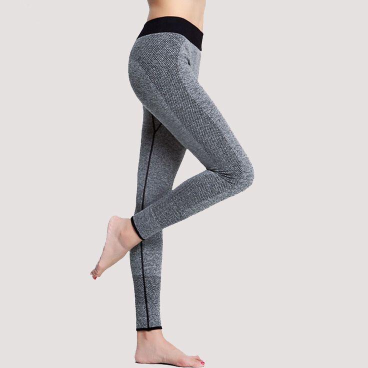 Yoga olahraga legging untuk wanita olahraga ketat celana yoga wanita yoga legging pemahaman menjalankan tights wanita