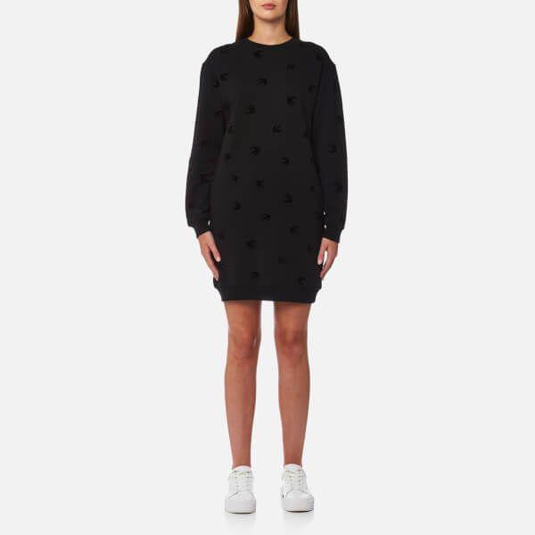 McQ Alexander McQueen Women's Classic Swallow Sweat Dress - Darkest Black