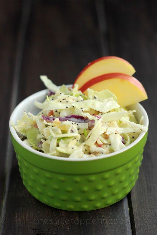 apple coleslaw on One Sweet Appetite