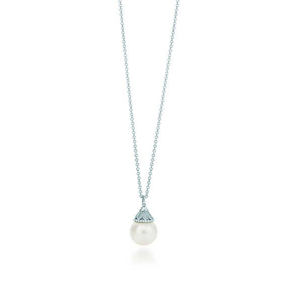 Ziegfeld Collection pearl pendant in sterling silver.