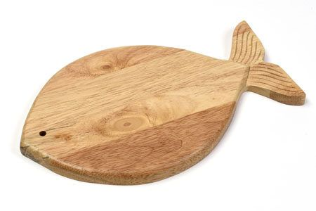 Altromercato - Sottopentola Pesciolino in legno di albero della gomma