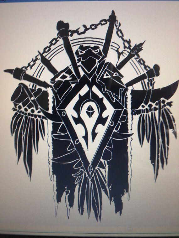 World of Warcraft Vinyl Horde Crest Sticker Decal