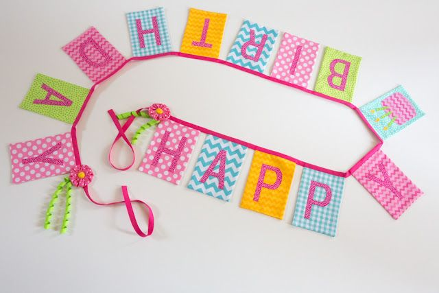 .: March 31 - Fabric Birthday Banners