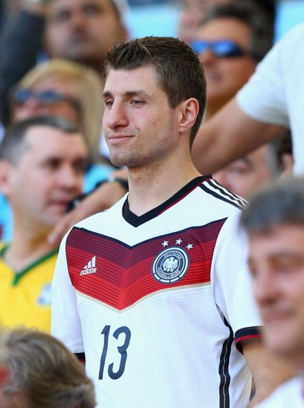 Simon Müller supporting his brother Thomas Müller brother at the final match of the WC, July 13th, 2014