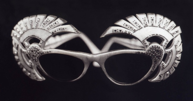 Vintage exotic eyeglasses frames collected by artist Miriam Slater in the 1970's.