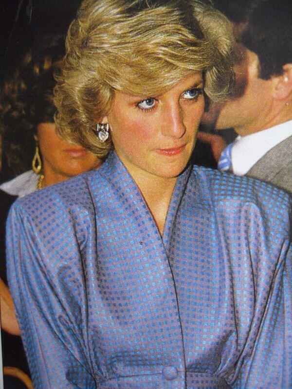 April 22, 1985: Princess Diana watches a display of Tornado jet fighters at an…