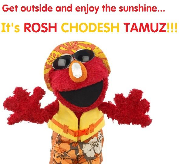 It's the Jewish month of Tamuz, which means the shemesh (sun) is out in full force. Learn more about Tamuz in this Shalom Sesame video:  http://www.shalomsesame.org/videos#all/1/ba4a8ab5-4233-4471-a07e-d9882ddc671f