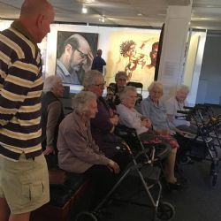 Bega's Hillgrove House residents attended a discussion led by carers who trained at our Art & Dementia training: