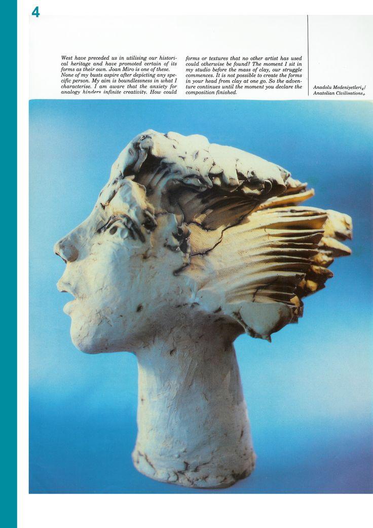 """Erdinç Bakla """"Seramik Heykeller"""" Tasarım dergisi, Sayı:9, Syf: 96-99, Kasım 1990"""