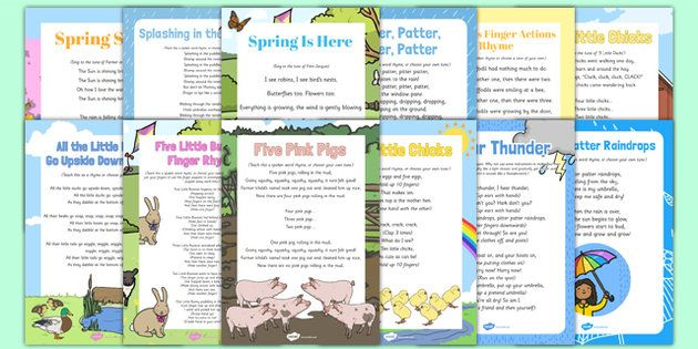 Bumper Spring Songs and Rhymes Resource Pack - rain, spring animals, weather