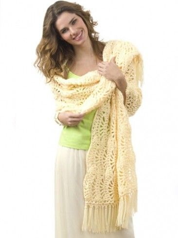 Caron One Skein Wrap  - free pattern from Yarnspirations